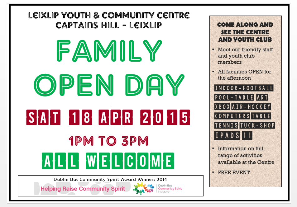 OPEN DAY 18 04 2015